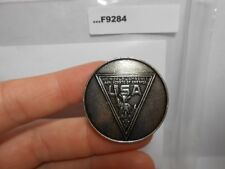 1971 WORLD JAMBOREE USA CONTINGENT METAL NECKERCHIEF SLIDE F9284