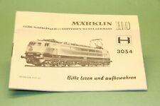 M&B Marklin HO Beschreibung 3054 # 68 354 OA 1171 ju