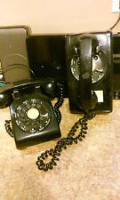 Black Western Electric Bell System Rotary Wall Telephone Lot Black