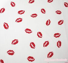Butterfly Lips Heart Flower Pattern Soft Sew Chiffon Crafting Fabric Cloth 1Yard