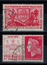(a12) timbres France n° 1642/1643 oblitérés année 1970