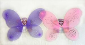 Child Butterfly Wings Fairy Costume Dress Up Party Pink Purple Princess New