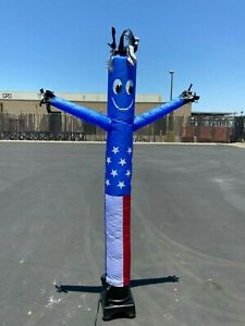 Used Air Dancers 8-Feet Tall Inflatable Tube Man Complete Set with Blower