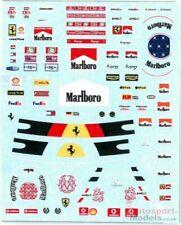 1/20th Michael Schumacher race suit & helmet decals Ferrari 1996 > 2006