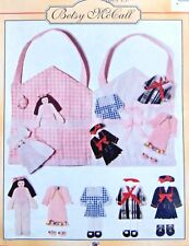 8207  Betsy McCall Fabric Doll, Clothes & Carry Case Pattern -  1996 UNCUT