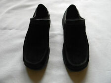 WOMENS CLARKS BLACK SUEDE SHOES SIZE 9