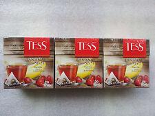 Black tea Tess Banana Split with strawberry and banana flavor 20 bags × 3 boxes