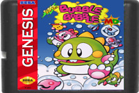 Super Bubble Bobble Sega Genesis Game Gear Cartridge Mega Classic 16 MD Card