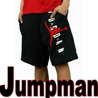 MEN'S AIR JORDAN JUMPMAN CLASSICS FLEECE BASKETBALL SHORTS HBR BLACK RED 3XL