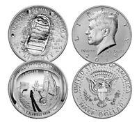 2019 Apollo 11 50th Anniversary Proof Half Dollar Set w/ Enhanced Rev Kennedy