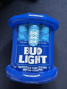 Budweiser / Bud Light BLUE Inflatable Ice Bucket - Inflated Never Used