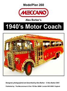 Meccano Model Plan - 1940's Motor Coach