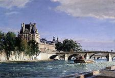 John Stobart Print - Paris: The Louvre at Point Royal