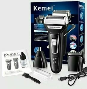 Multifunction 3-in-1 Rechargeable Shaver Hair Shave Nose Trimmer Kemei KM-6559
