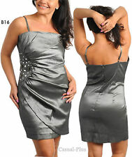 B16 Ladies Size 18/20 Metallic Cocktail Evening Party Spring Race Short Dress