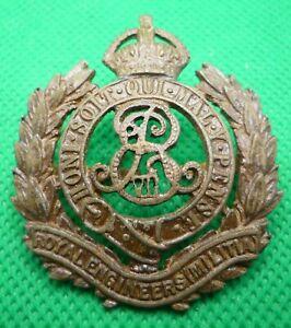 Royal Engineers (Militia) Edward VII Cap Badge with Blades