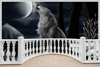 Huge 3D Balcony Fantasy Wolf Space Wall Stickers Wallpaper Mural 724