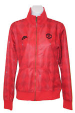 New NIKE Womens Vinatge MANCHESTER UNITED Football Club Jacket Red M