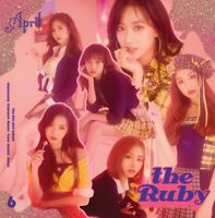 K-POP APRIL 6th Mini Album [the Ruby] CD+Booklet+Mini Poster+Photocard+Lips Card