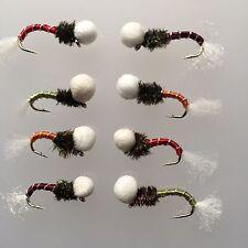 pesca alla trota CON MOSCA polyhead ronzanti SET OTTO mosche per la PACCO #91