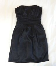 womens black DAVIDS BRIDAL 83707DG dress strapless wedding bridesmaid small 6