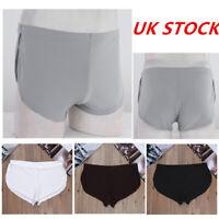 UK Men's Ice Silk Seamless Boxer Shorts Trunks Briefs Knickers Panties Underwear