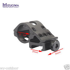 """1"""" Ring 20mm Picatinny Rail Offset Scope Mount For Scope Laser Sight Torch Light"""