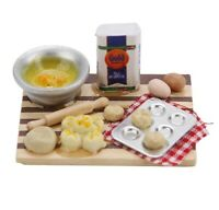 Doll House Accessories 1:12th Miniature - Chopping Board & to make Scones