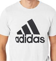 Adidas Men's LG Tee Shirt Badge of Sport Classic White-Black Adult Large CE5313