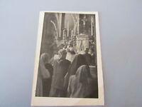 Carte Postale Vintage Padre Pio De Pietrelcina Sainte Communion Never Shipped