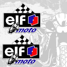 2 Aufkleber Auto Motorrad Sticker Rennsport ELF Öl Moto Sport Fahrrad Tuning