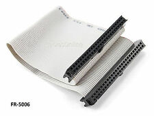 6 inch 50-Pin 2x25-Pin 2.54-Pitch Female 50-Wire IDC Flat Ribbon Cable, FR-5006
