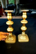 Beautiful Antique Early Brass Candlesticks