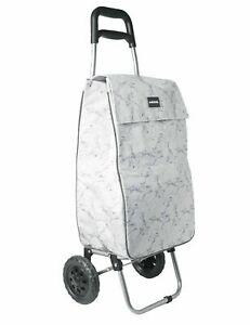 🔥 Large Lightweight Wheeled Shopping Trolley Push Cart Luggage Bag Wheels Marbl