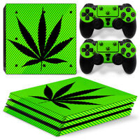 PS4 Pro- CANNABIS MARIJUANA edition DECAL COVER Skin Sticker Set Playstation