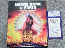 NOTRE DAME DE PARIS LAS VEGAS 2000 PERSONAL AUTOGRAPHS PROGRAM & ORIG TICKET