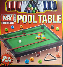 Table Top Toy Pool Felt Table. Great Executive Toy (Approx 32 cm x 24.5 cm)