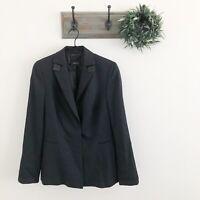 Akris Punto Womens Black Tuxedo Jacket 12