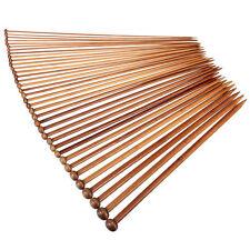 36Pcs 18size 35cm Carbonized Bamboo Single Pointed Knitting Needles Yarn Tools