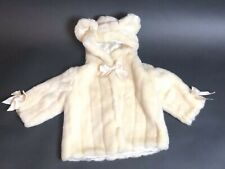BEARINGTON BABY COLLECTION COUTURE COAT+BLANKET FAUX FUR CREAM 12-24 MONTHS