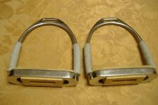 """New listing Stirrups Coronet 4 1/2"""" wide and 6 3/4"""" tall steel with rubber attachments"""