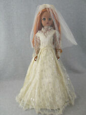 "19"" vintage Lace Wedding Gown for Cissy Ideal hard plastic or composition Doll"