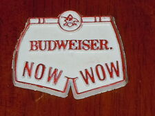 BUDWEISER BEER NOW WOW SHORTS Vintage RUBBER FRIGE MAGNET Standings Board 1970's