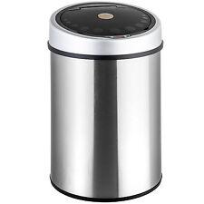 Edelstalen afvalemmer vuilnisbak prullenbak automatisch met sensor 40 liter