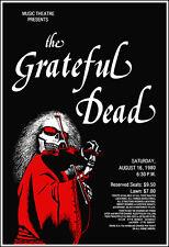 GRATEFUL DEAD 1980 Evanston Illinois Concert Poster