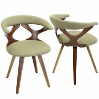 OPEN BOX Gardenia Mid-Century Modern Dining/Accent Chair with Swivel in Walnu...