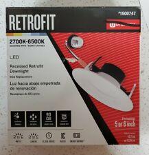 Retrofit Recessed Downlight 5 or 6 inch 2700K-6500K pot light fixture