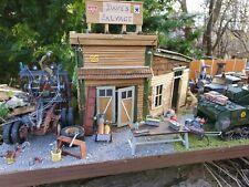 WWII Scrap Salvage Yard Car Garage Tank Built Plastic Model 1:35 Scale Diorama