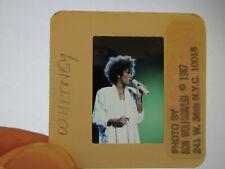 More details for original press promo slide negative - whitney houston - 1987 - white dress