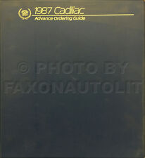 1987 Cadillac Ordering Guide Dealer Album Color and Upholstery for all Models